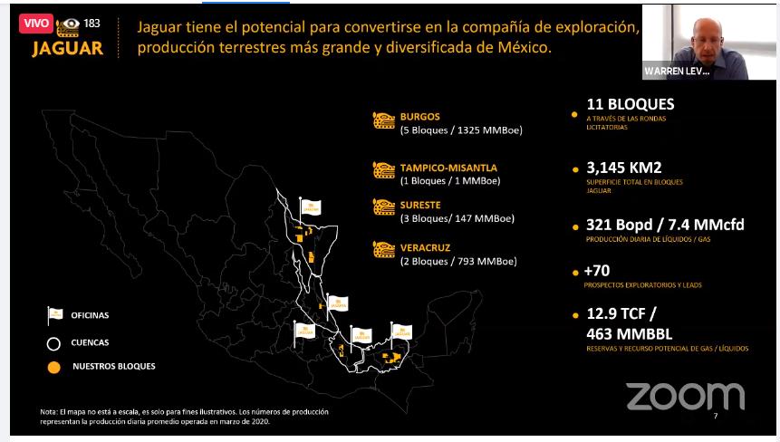 Jaguar Exploración y Producción, con potencial en Tamaulipas