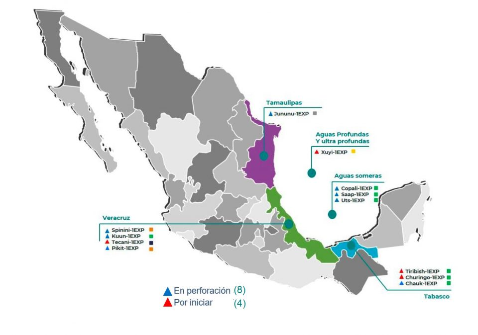 CNH autoriza perforación de 57 pozos exploratorios en 2020