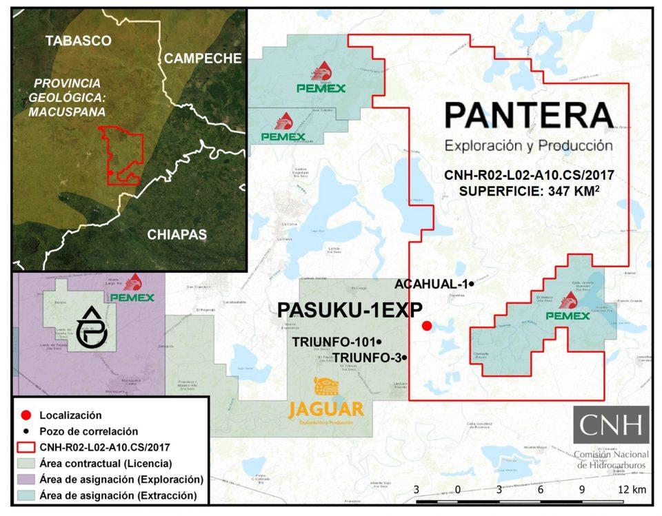 Pantera E&P invertirá 4.3 mdd en Pasuku-1EXP